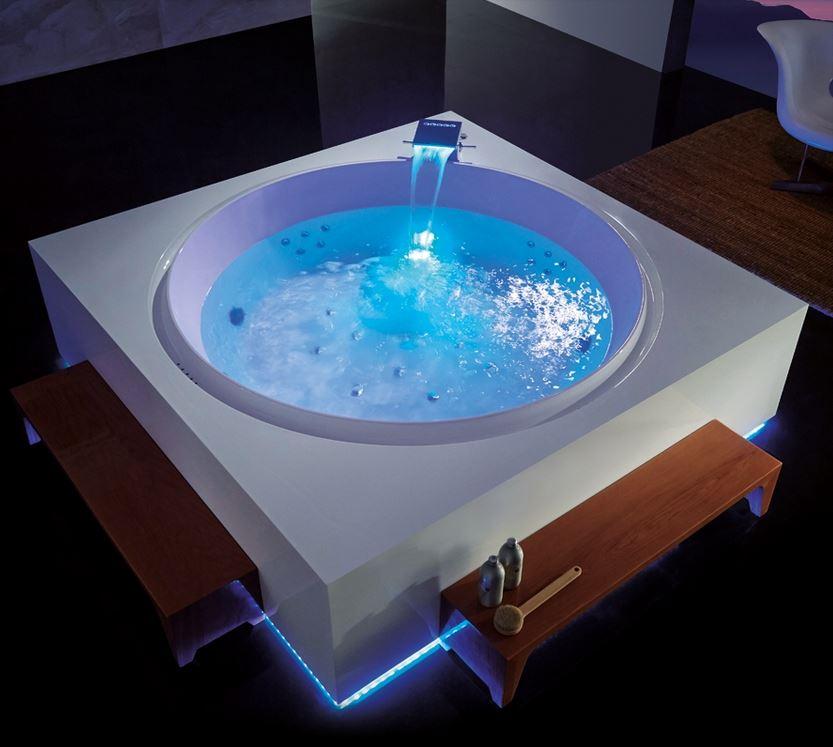 Débarrassez-vous du stress dans votre baignoire ronde !
