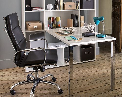 am nager un bureau dans un espace r duit. Black Bedroom Furniture Sets. Home Design Ideas