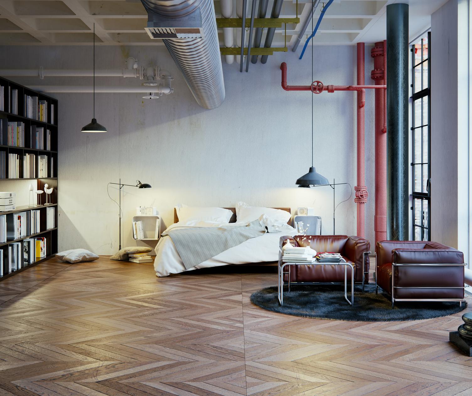 bien am nager une chambre de d coration industrielle. Black Bedroom Furniture Sets. Home Design Ideas
